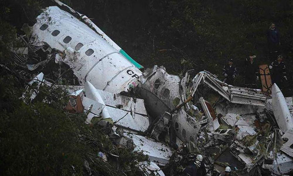 Confirman que avión de Chapecoense no tenía combustible al momento del accidente