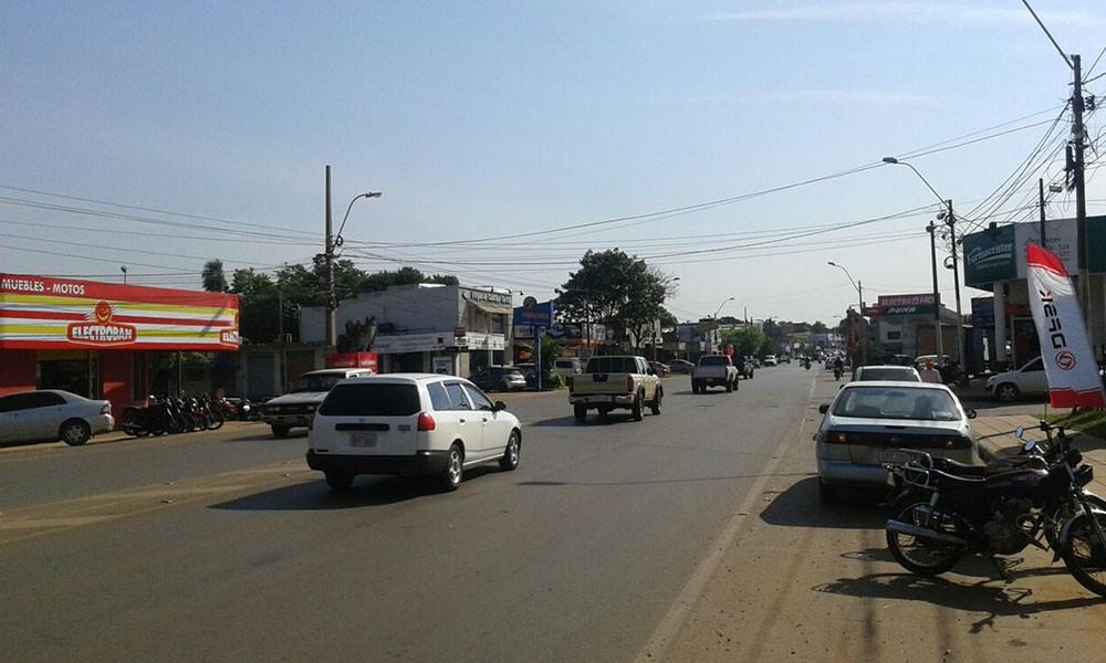 Boca calles peligrosas en Coronel Oviedo
