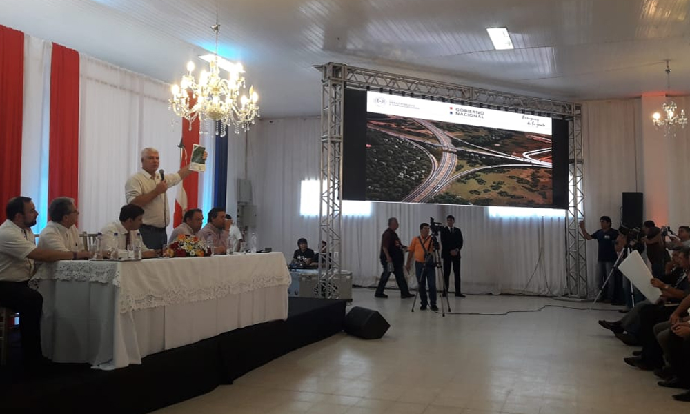 Arnoldo Wiens inicia audiencia pública sobre duplicación de ruta 2 y 7
