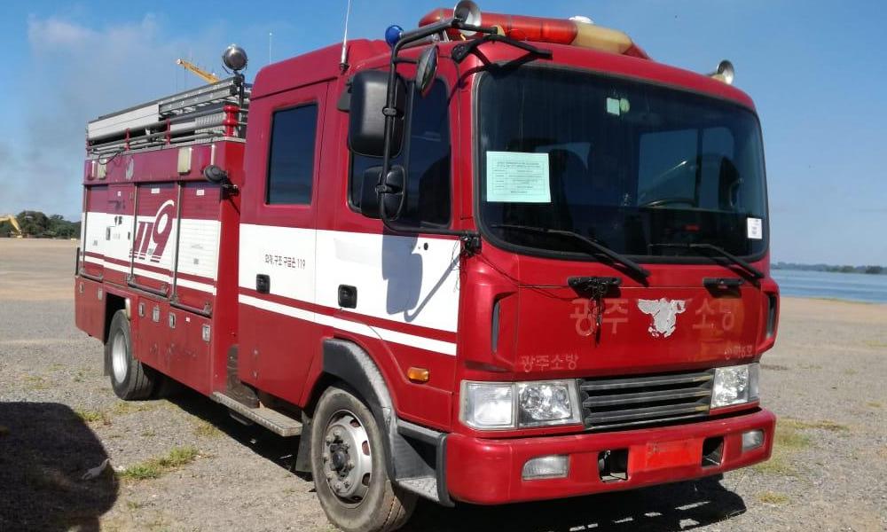 Carro bomba ya está en Paraguay y bomberos recaudarán para cubrir flete
