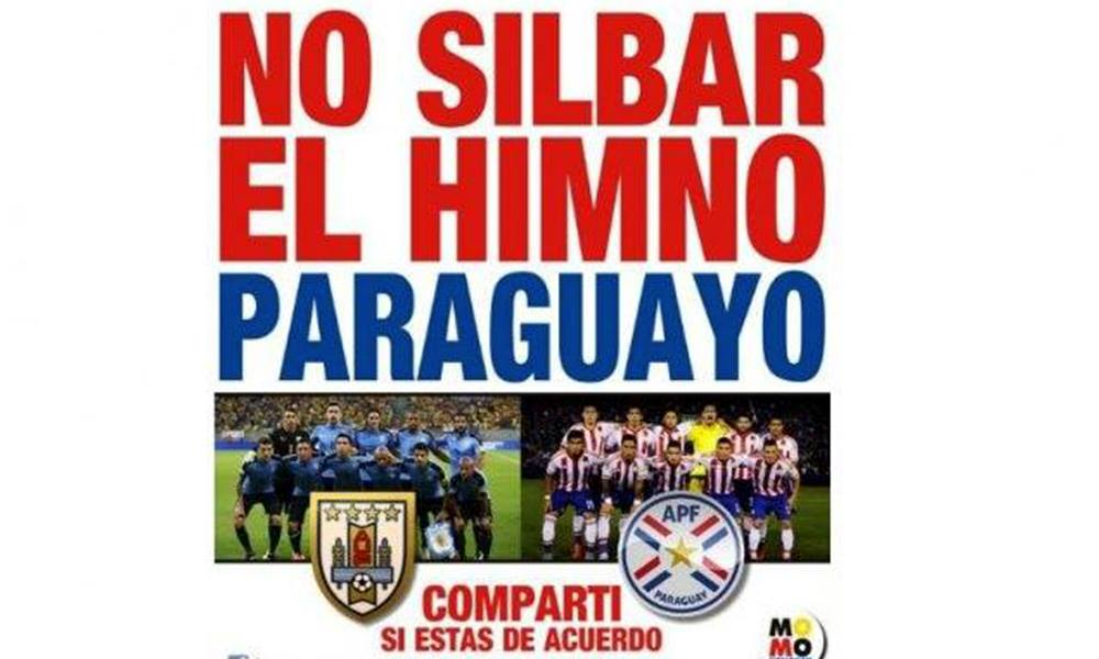 Uruguayos piden  respeto al himno paraguayo