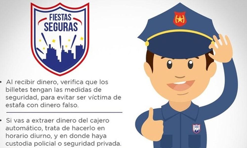 Policía ofrece custodia gratuita para deposito o retiro de dinero