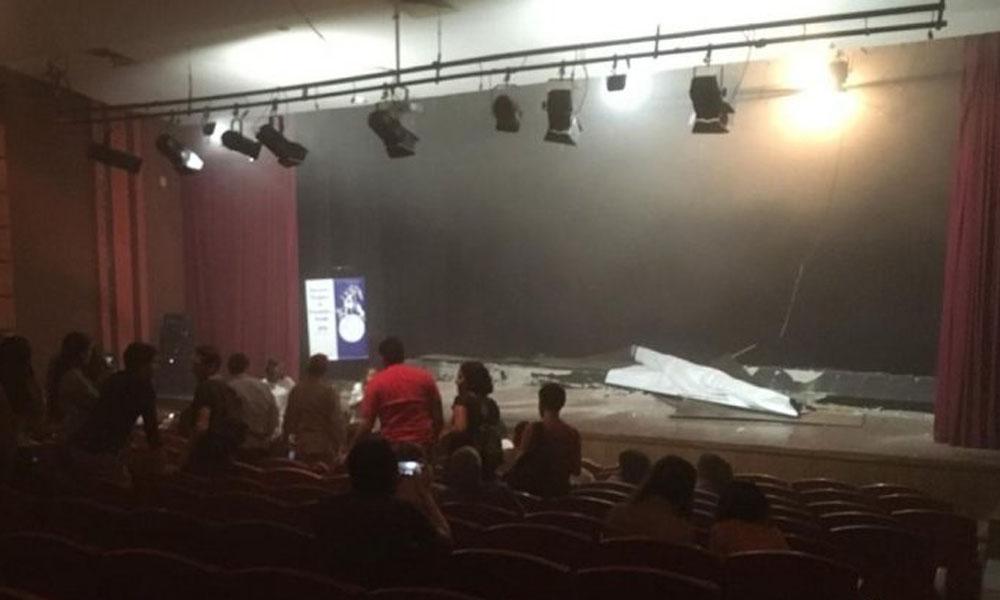 Susto tras derrumbe en la sala cine de la Alianza Francesa