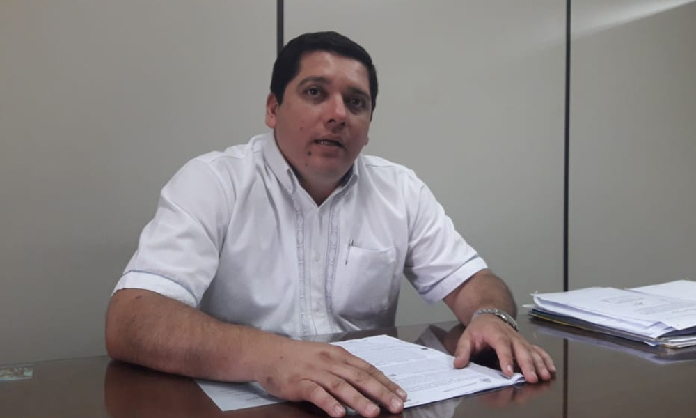 """""""El intendente dio su respaldo para la construcción en la plaza"""""""