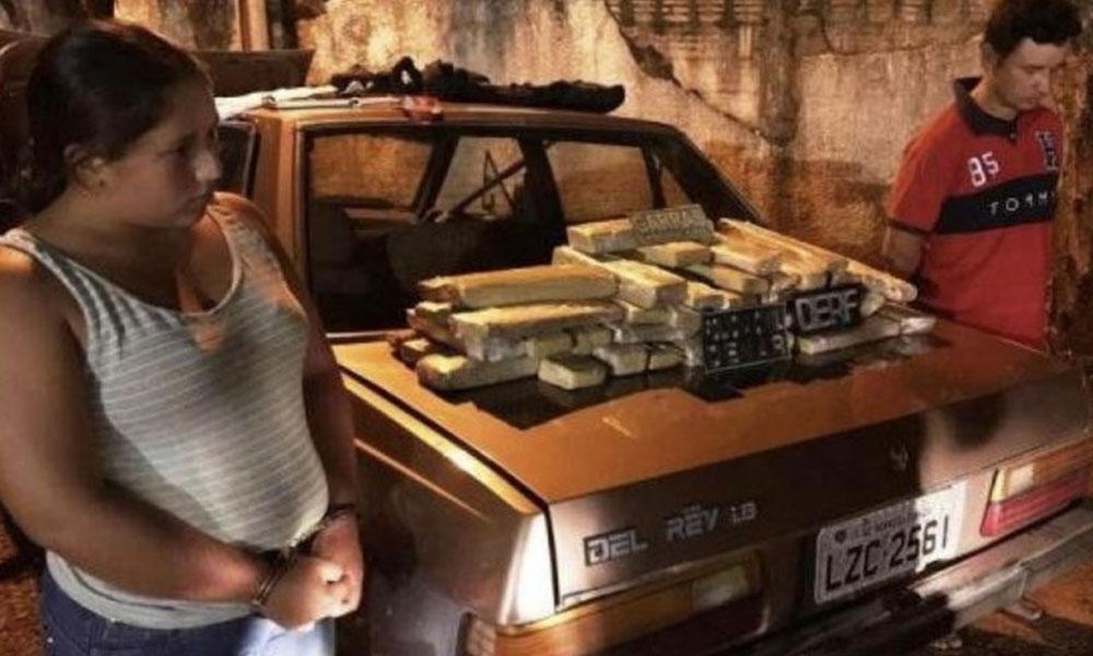 Pareja de paraguayos cae con 32 kilos de marihuana en Ponta Pora