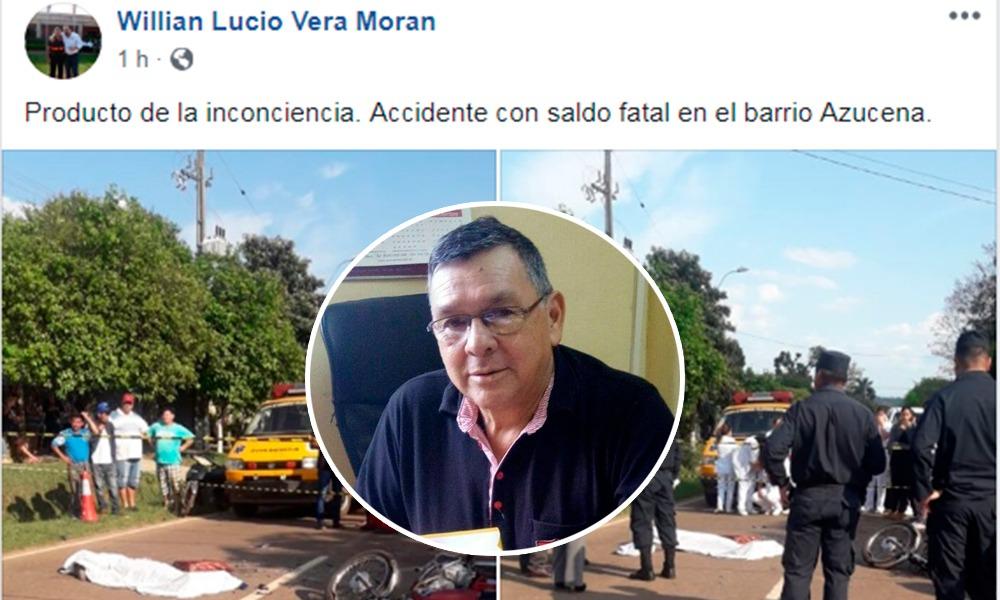 "Willian Vera ""quita la nalga de la jeringa"" y culpa a la inconciencia"