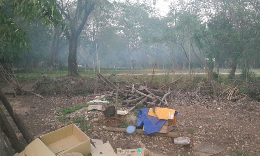 Denuncian quema de basura en el barrio José María Godoy de Coronel Oviedo