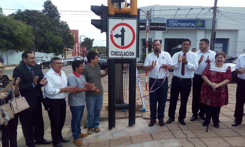 Coronel Oviedo habilitó su primer semáforo inteligente e inclusivo