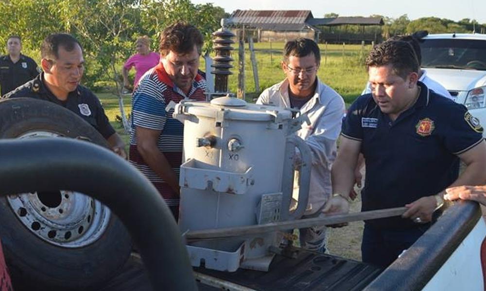 Recuperan un transformador eléctrico robado en San José de los Arroyos